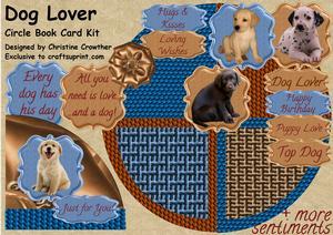 Dog Lover Circle Book Card Kit