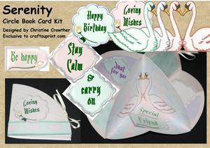 Serenity Circle Book Card Kit