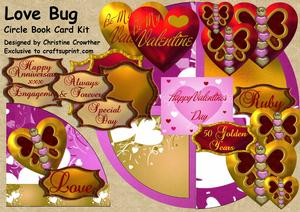 Love Bug Circle Book Card Kit