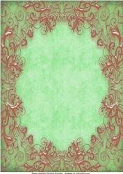 Bronze Metallic Swirls on Green Background