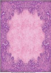 Lilac Metallic Swirls on Pink Background