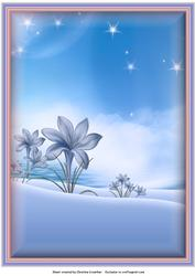 Fantasy Garden Background in Blue