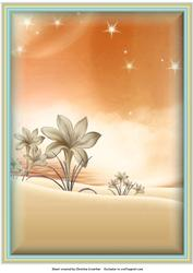 Fantasy Garden Background in Peach