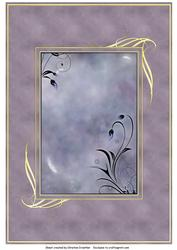 Framed Fantasy Background in Muted Lilac
