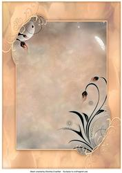 Framed Fantasy Background in Peachy Tones