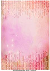 Pink Abstract Flower Trim Backing Paper