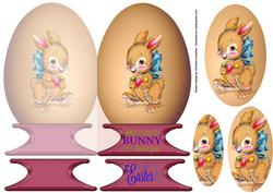 Some Bunny Loves You Egg Shaped Card