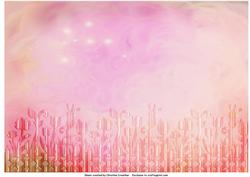 Pink Abstract Flower Trim Background