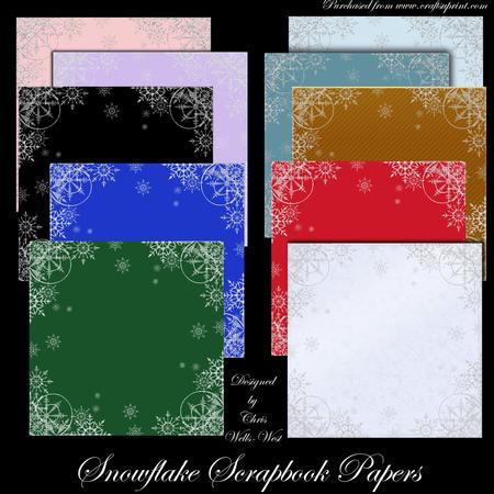 Snowflake Scrapbooking Papers