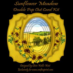 Sunflower Meadow Double Pop Out Card Kit