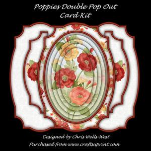 Poppies Double Pop Out Card Kit