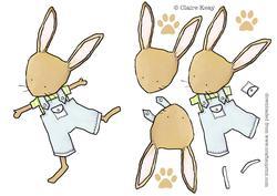 Bunny Decoupage Step by Step Bunny