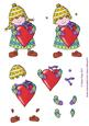 Girl with Heart Step by Step