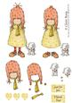 Girl and Her Little Dog Step by Step Decoupage Sheet
