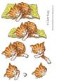 Watercolour Cat Step by Step Decoupage Craft Sheet