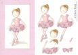 Pink Ballet Girl - Quick Card Craft Sheet