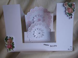 Centre Step Card with Lacy Mats