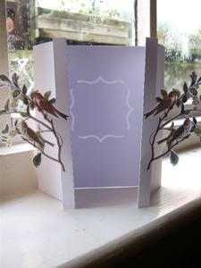 Foldback Gatefold Card - Birds