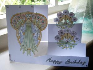 Art Nouveau Side Stepper Card