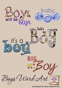 Boys Word Art