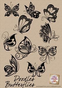 Butterflies-doodles