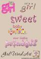 Girl Word Art