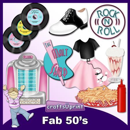 Fab 50's Clip Art - CUP328033_1519 | Craftsuprint