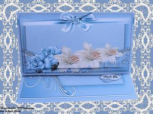 Dl Easel Blue Rose and Lilies Kit