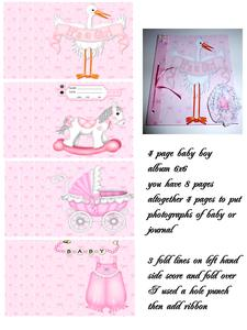 Baby Girl Album 4 Pages
