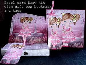 Little Girl Easel Draw Kit