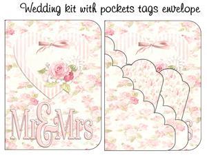 Scalloped Pockets Tags Kit Wedding