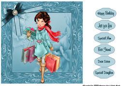Blue Shopping Girl