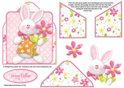 Mock Envelope Topper - Hoppy Easter