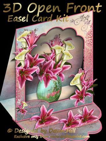 3D Open Front Easel Kit - Lilies Galore
