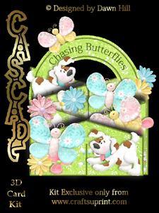 Chasing Butterflies - 3D Cascade Card Kit