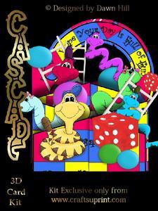 Snakes N Ladders - 3D Cascade Card Kit