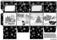 Milk Carton Gift Box - Black & White Christmas