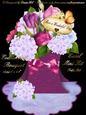 Everlasting Bouquet Easel - Tulips & Hydrangeas