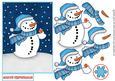 Mr Snowman & Robin Quick Decoupage Sheet