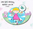 Little Girl Wobble Card Birthday Kit