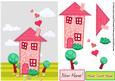 Home Sweet Home New Home Decoupage Sheet