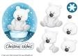 Cute Christmas Polar Bear Decoupage Sheet