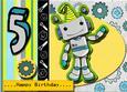 Little Boy Age Card Robot Card Kit