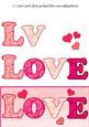 Valentines Dl Letter Decoupage Sheet
