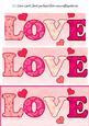 Dl Valentine Letter Pyramid Sheet