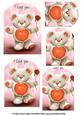 Thready Bear Valentine Pyramid Sheet