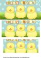 Cheeky Fluffy Chick Easter Pyramid Card Sheet