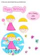 Little Girl Birthday Decoupage Sheet