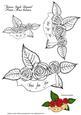 Tatoo Style Rose Banner-digital Stamp