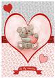 Freddy the Teddy A4 Valentine Topper